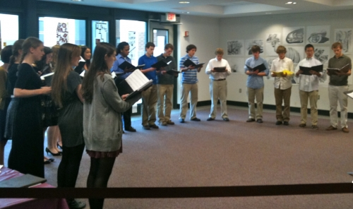 Summit High Chamber Choir Performs for Alums